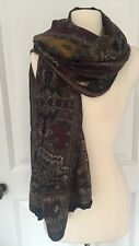 NWOT Donna Karan Collection Paisley Large Scarf Wrap Rare Made In Italy #3