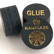 Kamikaze Black Layered Cue Tips  14 MM ( HARD) (5 Tips)  Fast Shipping....