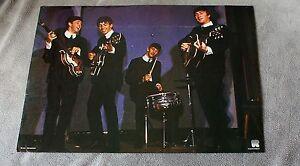 Beatles 1970s Lennon McCartney Harrison Starr Holland Live Concert Poster VGEX