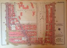 1955 MORNINGSIDE HEIGHTS HARLEM CCNY MANHATTAN G.W. BROMLEY ATLAS MAP 12 X17