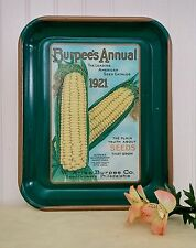 Nostaligic Burpee's Annual 1921 Seed Catalog Advertising Metal Tray