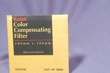 "CC25G  Green NEW Sealed 4"" 100mm Square Kodak Wratten gelatin filter 101 8886"