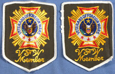 VFW Veterans of Foreign Wars Member Patch Patches (2)