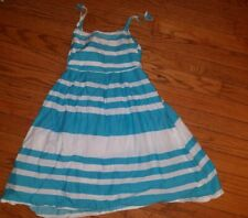 Childrens Place Girls Size 12 striped beaded Stretch Sun Dress