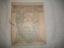 """1916 """"HOW TO BRING UP A BABY""""PROCTOR AND GAMBLE/ORIGINAL PARCHMENT COVER VGC"""