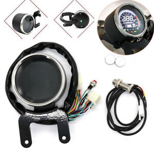 Motorcycle Digital LED LCD Odometer Speedometer Tachometer Speed Gauge Kmh/Mph