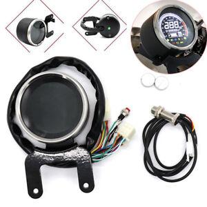Motorcycle Digital LED LCD Odometer Speedometer Tachometer Speed Gauge Kmh/Mph