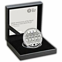 250th Anniversary of Royal Academy 2018 United Kingdom £5 Silver Proof Coin