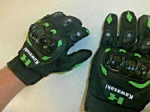 *US SELLER Mens Motorcycle Riding Protective Gloves for Kawasaki Riders Bikers