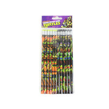Brand New Teenage Mutant Ninga Turtles School Supplies 12pcs Set Pencils