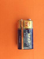 100 pcs 6F22 6LR61 6F22X 1604D 9V Heavy Duty Zinc Carbon Bulk Alarm Battery