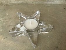 Parlane Clear Glass Star Tea Light Holder