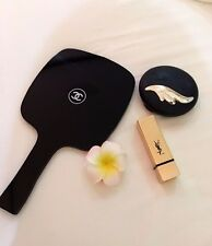 CHANEL BEAUTE Black Makeup Cosmetic Hand Mirror VIP gift in Box