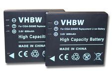 2x BATERIA para RICOH DB-70 DB70 CAPLIO R6 R7 R8 R10 R-10