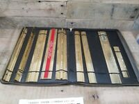 X9 Vintage Metal gold tone 12 inch ruler advertising Mostly From Illinois