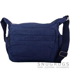 Womens / Mens Canvas Work / Travel / Holiday Shoulder / Small Messenger Bag