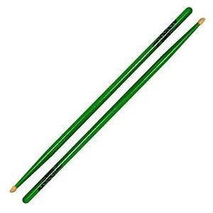 Zildjian Z5AACDGG 5A Acorn Wood Neon Drumsticks - Green - Pair Sticks