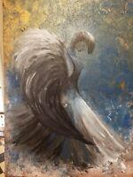 Thanksgiving Angel, original,  surrealism,  acrylic, fantasy