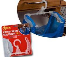 KITCHEN CUPBOARD HANGING STORAGE RUBBISH WASTE PLASTIC BIN BAG CARRIER HOLDER
