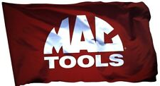 MAC Tools Flag Banner 3x5 ft Products Racing Wall Garage Red