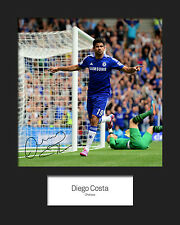 DEIGO COSTA - CHELSEA Signed 10x8 Mounted Photo Print - FREE DEL