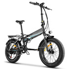 Electric Folding Bike Bicycle Ebike 20'' Fat Tire Sonw Beach Mountain Li-Battery
