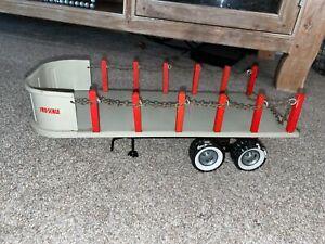 Vintage Tru-Scale Stake Flat Bed Trailer NICE