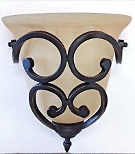 ORB oil rubbed bronze wall iron scroll sconce 1 light