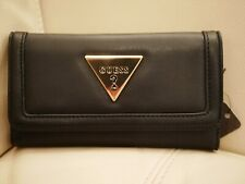 NEW WITH TAGS WOMEN'S BLACK GUESS WALLET FLIP CLUTCH ANDREWS SLG LG738451