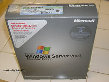 Microsoft Windows Server 2003 Standard Edition 32 Bit w/5 CAL w/SP1 =SEALED BOX=