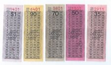 70s' Singapore Bus Services SBS Old Bus Tickets 35¢ 50¢ 70¢ 90¢ $1 set of 5