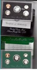 2 1996 Proof Sets 1 Silver & 1 Regular Both Fresh With Box & Coa