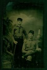 1870's Baseball Tintype Photo, 029, 2 players wearing Kepi Hats, Extremely Rare