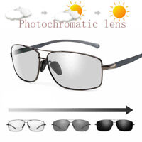 Mens Polarized Photochromic Sunglasses Outdoor Driving Transition Sunglasses