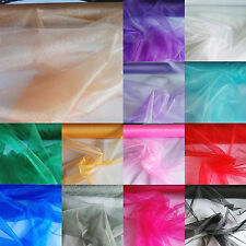 Shine Organza Tulle Fabric Sheer Voile 150cm Wide Curtain Wedding Decor Metre