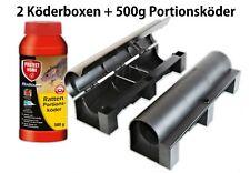 500g Rodicum + 2 Rattenköderboxen Rattengift Mäusegift