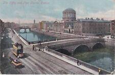 The Liffey & Four Courts, DUBLIN, County Dublin, Ireland