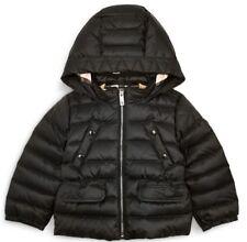 NWT Burberry Girls Boys Mini Bronwyn Hooded Down Jacket Black 24M  325 1f1566b430