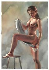 original drawing A3 170SA art by samovar woman nude girl watercolor 2020