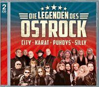LEGENDEN DES OST-ROCK (DIE GROßEN VIER: PUHDYS/CITY/KARAT/SILLY) 2 CD NEU
