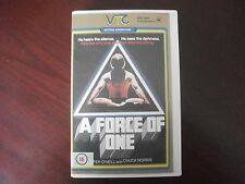 A Force of One Chuck Norris VHS video