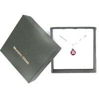 Murano Glass Necklace Sterling Silver Pendant Bead Red Millefiori Venice