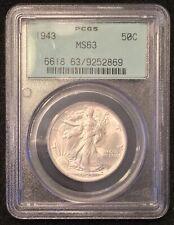 1943 Walking Liberty Half Dollar PCGS MS63 OGH!