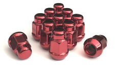 "(16) 12x1.5 BULGE ACORN WHEEL LUG NUTS RED 3/4 HEX OE STYLE 1.38"" TALL"