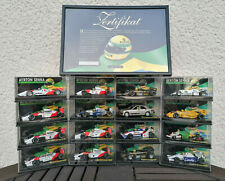 Ayrton Senna Lang Minichamps Collection 1:43 16 Modelle + Zertifikat Neuwertig!