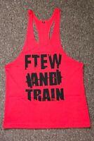 Bodybuilding Gym Vest Tank Top Stringer Red Slogan FTEW Brand New 90% OFF RRP