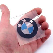 BMW Badge CLEAR Sticker Car Vinyl Decals x2 50mm Window Panel Laptop