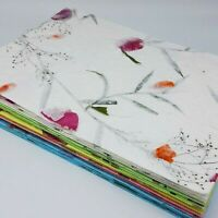 20x Mulberry Paper Sheets Flower For Craft Leaves Thailand Thick Flowers Crafts