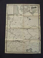 Landkarte mit Graetz UKW - Sender - Tabelle, Deutschland und Nachbarn, von 1960