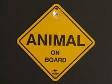 Animal On Board Yellow Car Swing Sign Gift